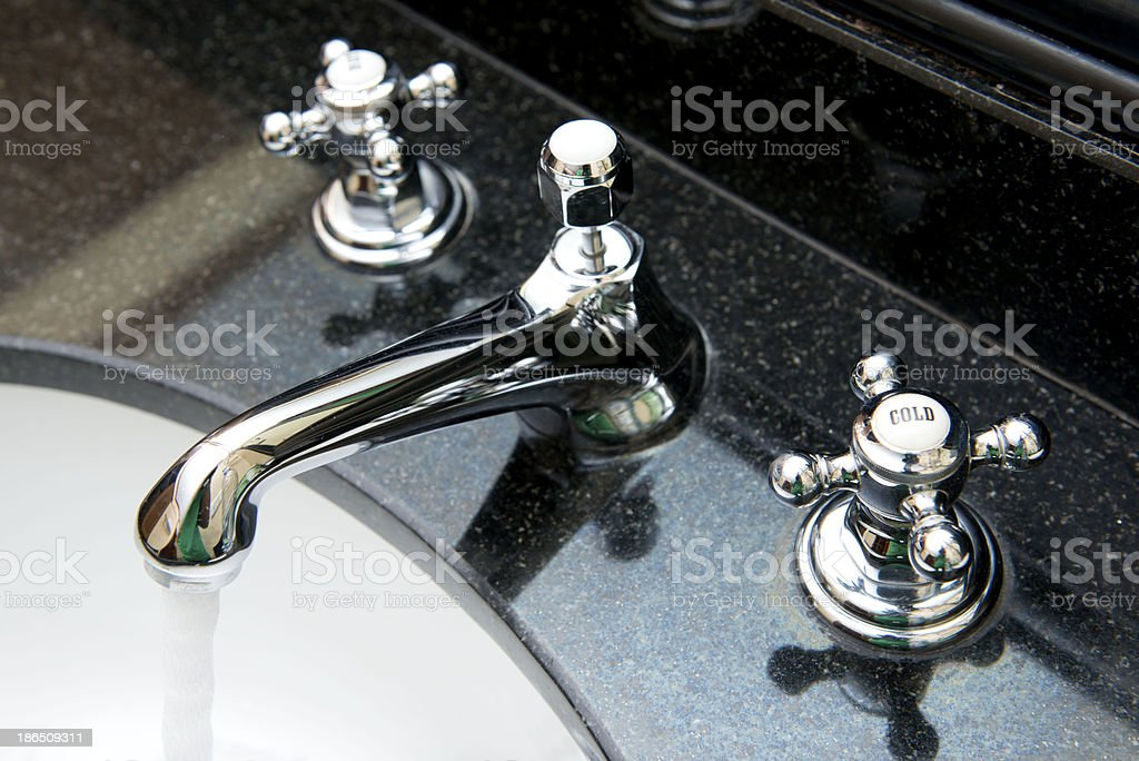 open water from faucet royalty-free stock photo