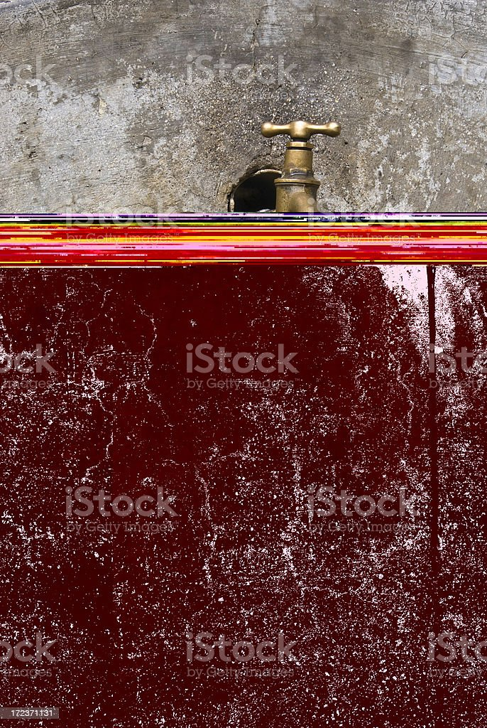 Open water tap royalty-free stock photo