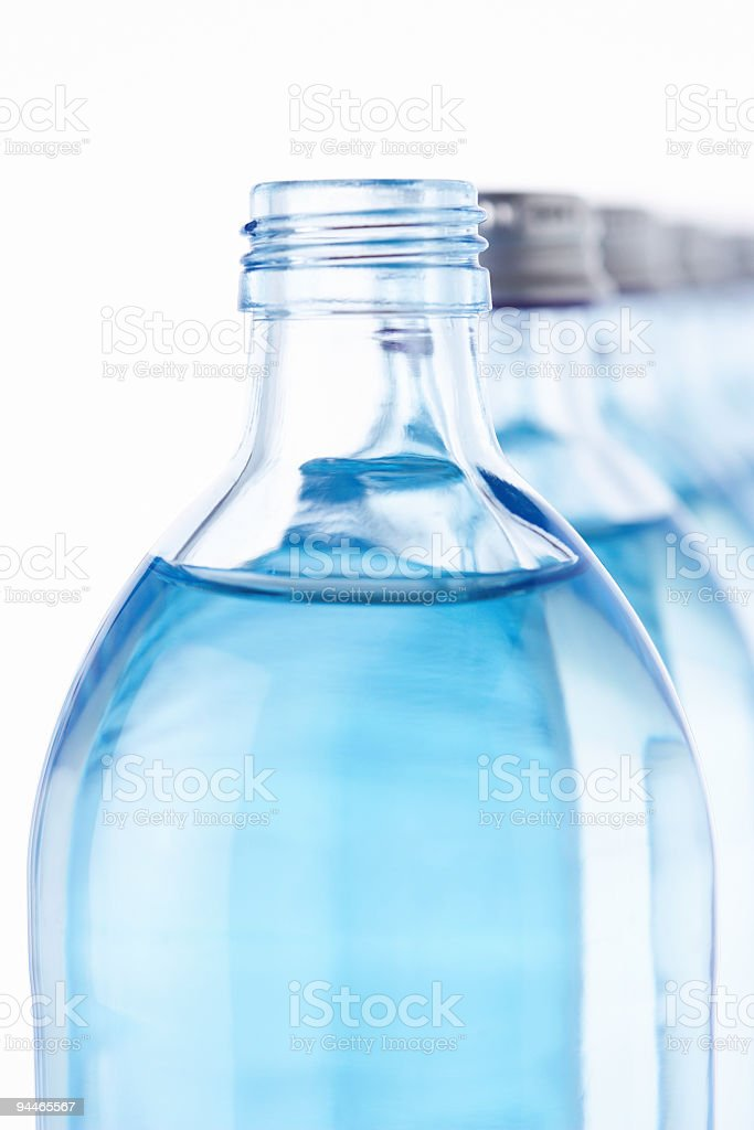 open waterbottle close royalty-free stock photo