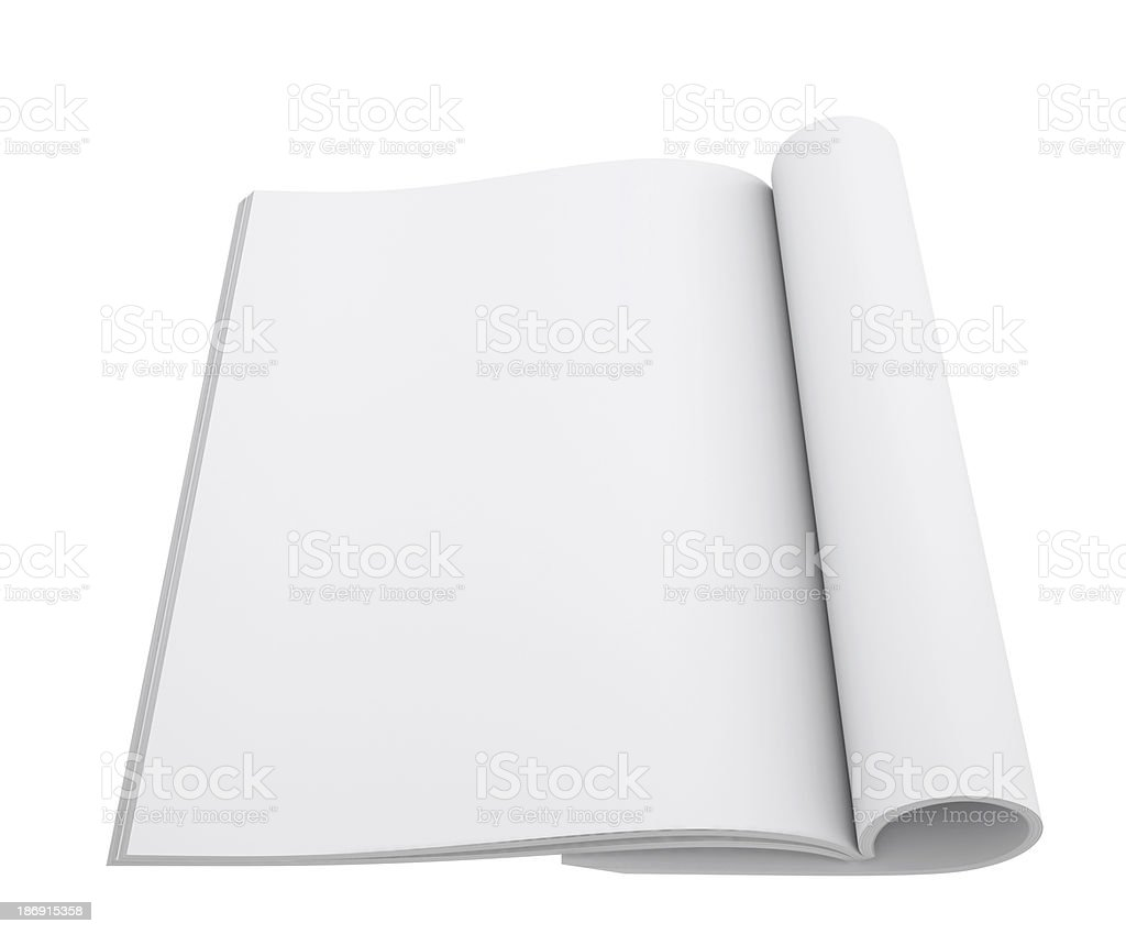 Open white book royalty-free stock photo