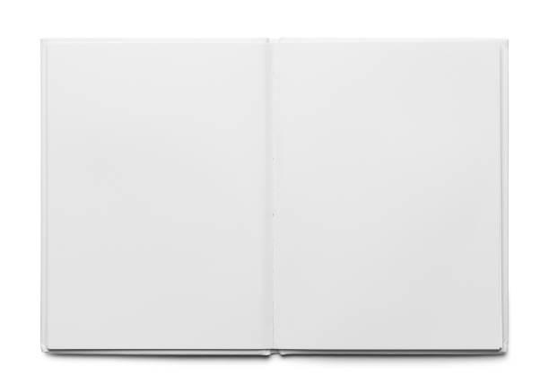 open wit boek - smeren stockfoto's en -beelden