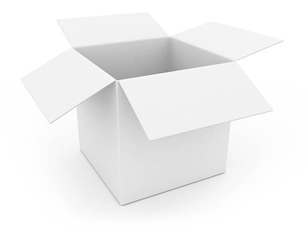 otworzyć biały pole - puste pudełko zdjęcia i obrazy z banku zdjęć
