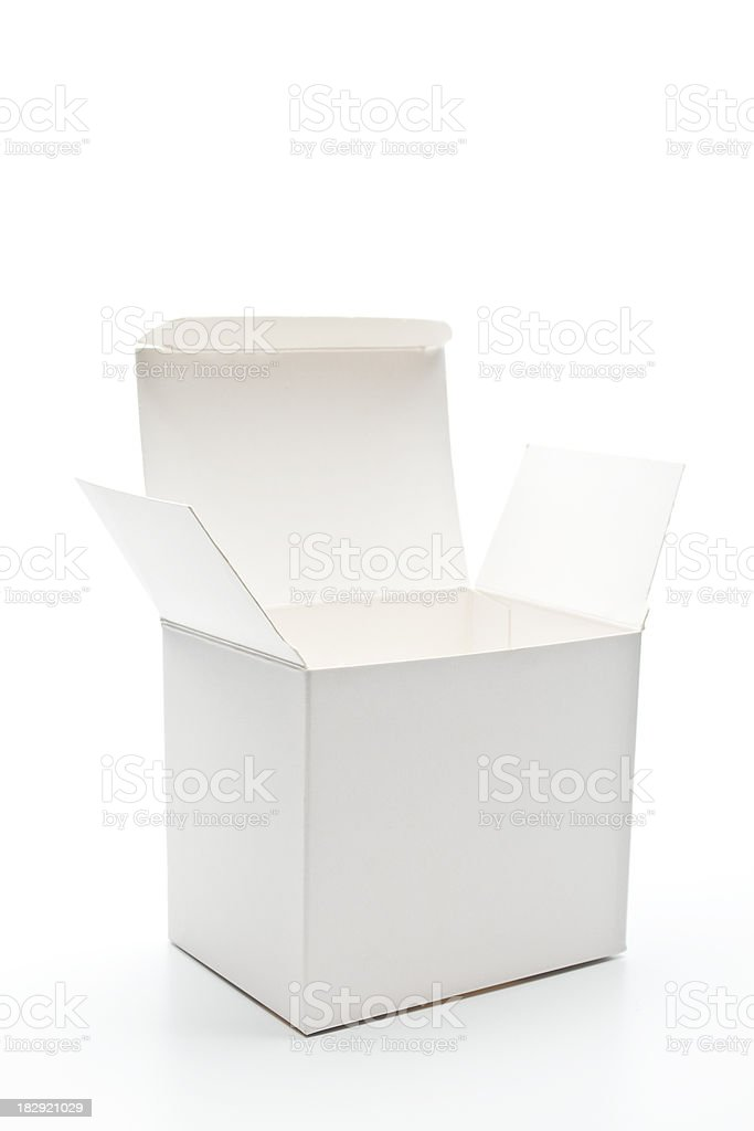 Open white cardboard box royalty-free stock photo
