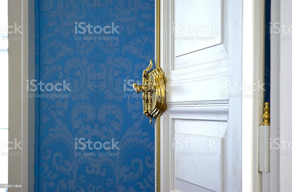 Open white door royalty-free stock photo