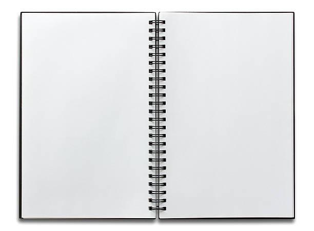 Open Spiral Notebook Royalty Free Spiral No...