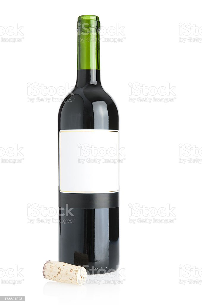 Open Wine Bottle stock photo