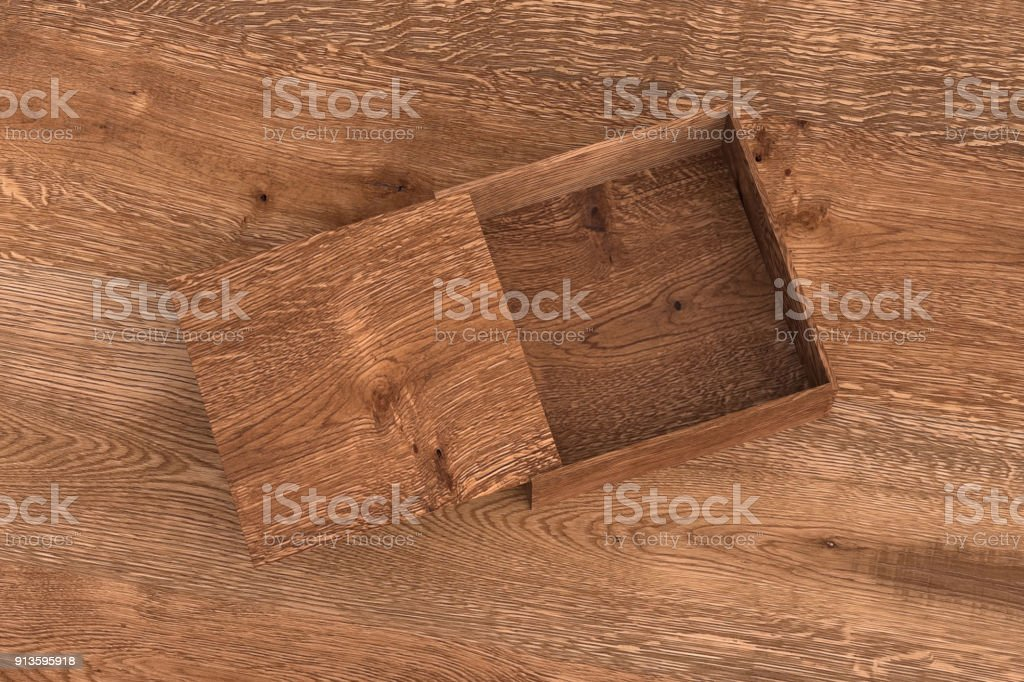 open wooden box with slide lid stock photo more pictures of