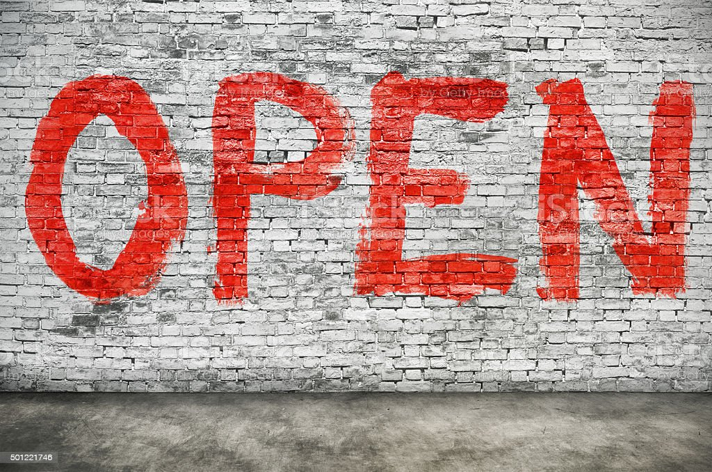 Open word stock photo