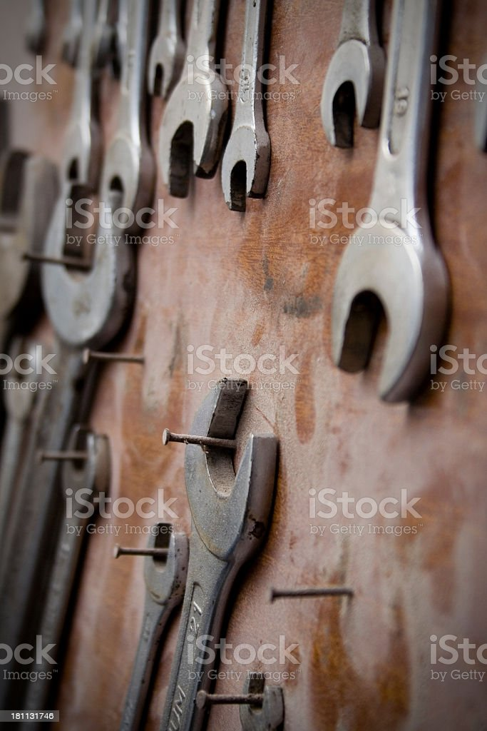 open wrench royalty-free stock photo