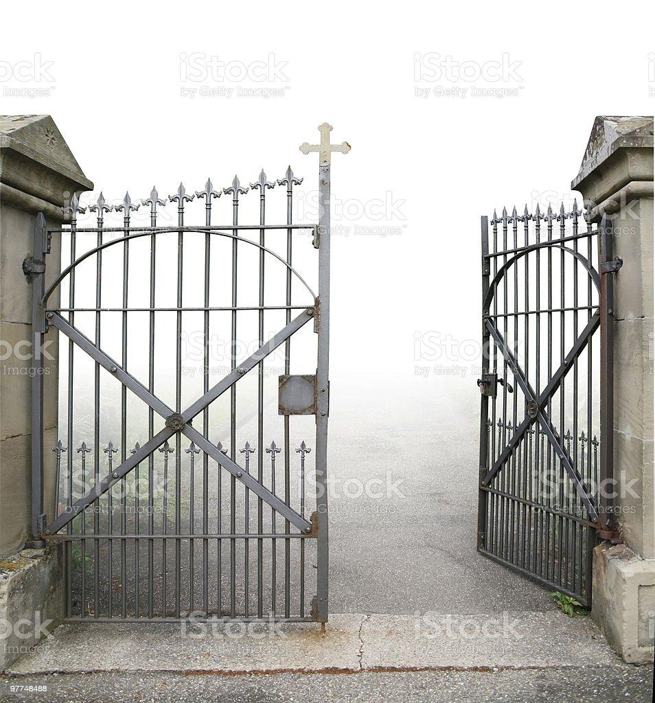 open wrought-iron gate royalty-free stock photo