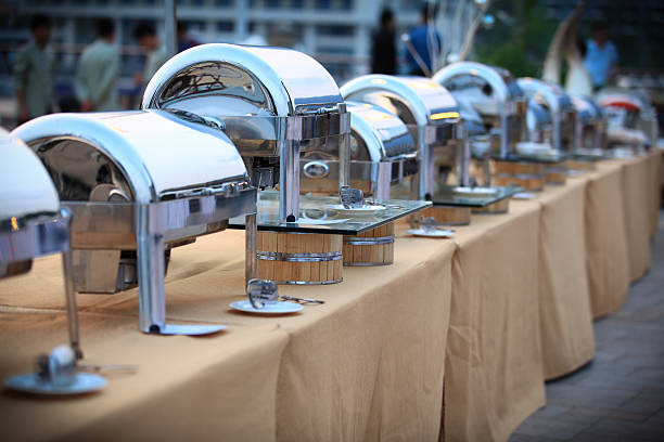 Open-air buffet stock photo