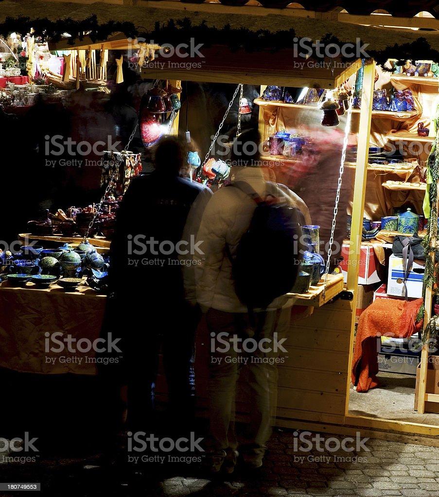 Openair Market at Christmas royalty-free stock photo