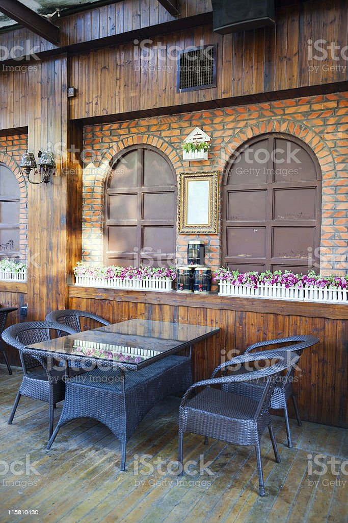 open-air restaurant royalty-free stock photo