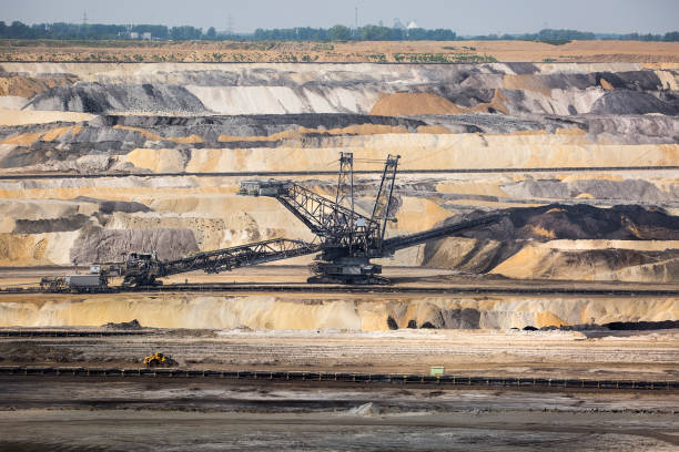 Braunkohletagebau Inden, Germany - brown coal surface mine – Foto