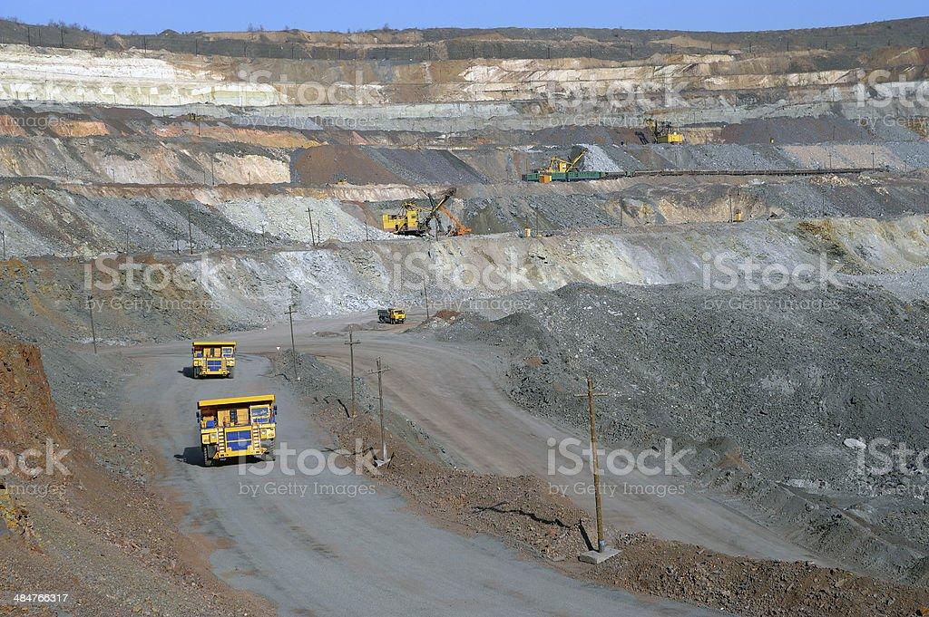 open-cast mine of iron ore stock photo