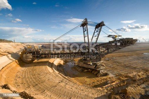istock Open-cast Mining Excavators 137389656