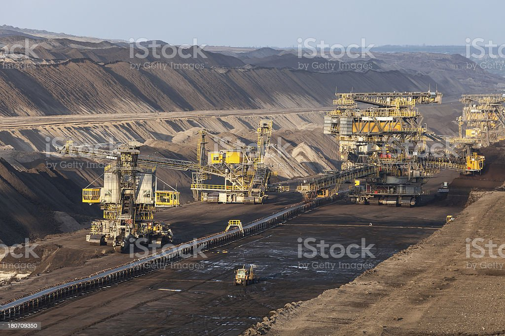 Opencast mining royalty-free stock photo