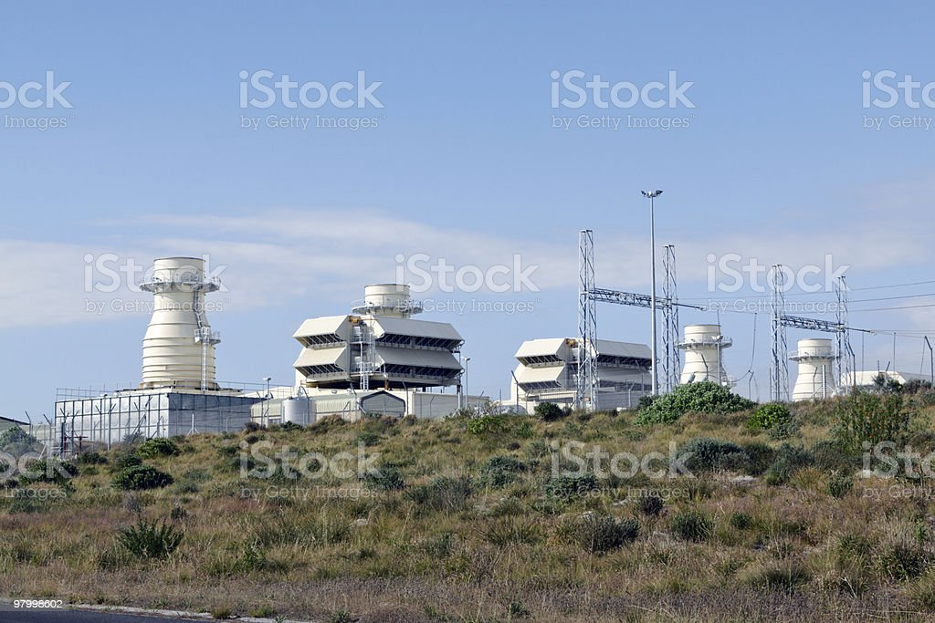 Open-cycle gas-turbine generators royalty-free stock photo