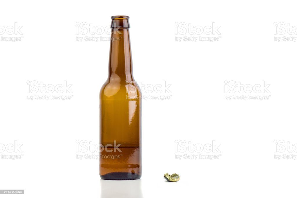Açılan bira şişesi stok fotoğrafı