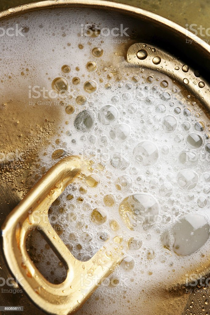Opened beer can royalty-free stock photo