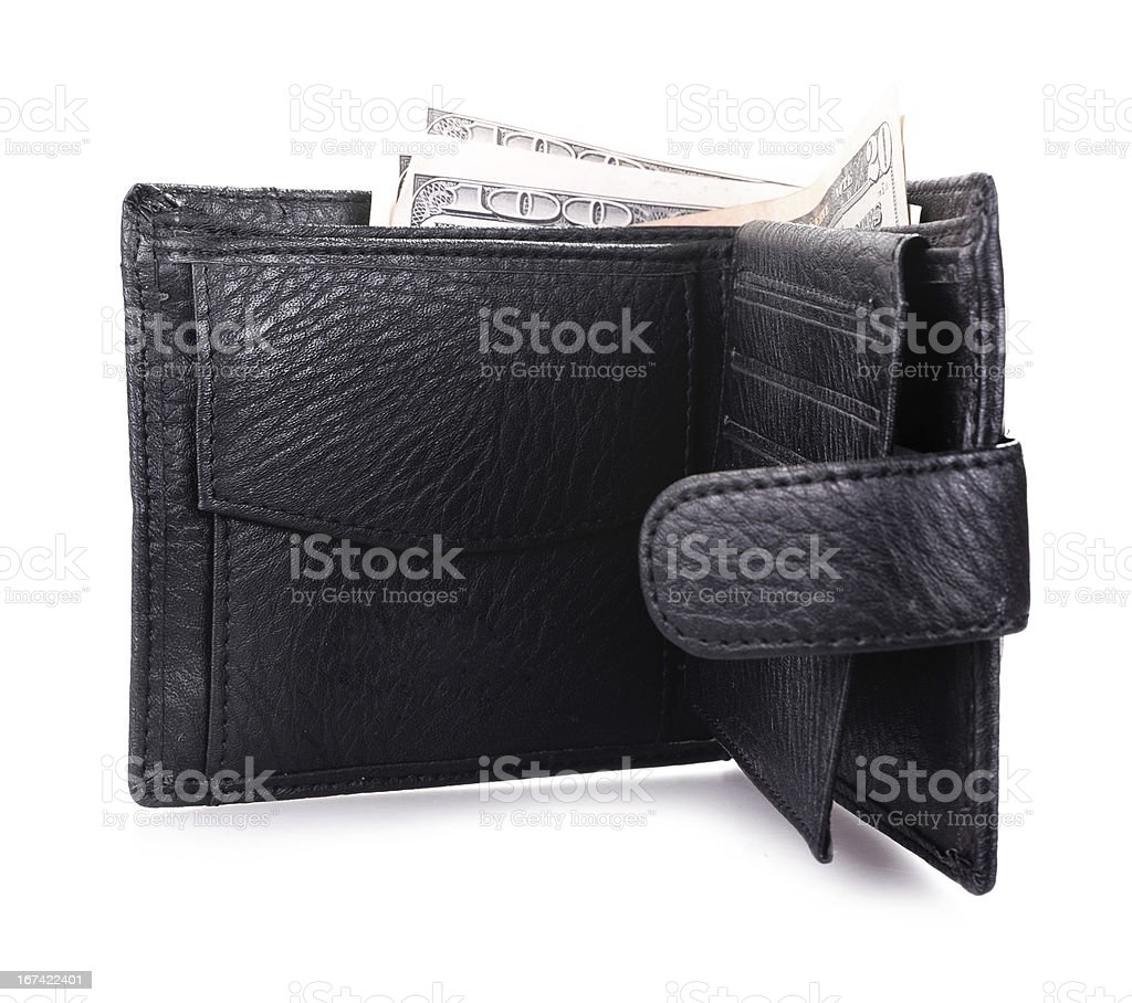 opened black wallet royalty-free stock photo