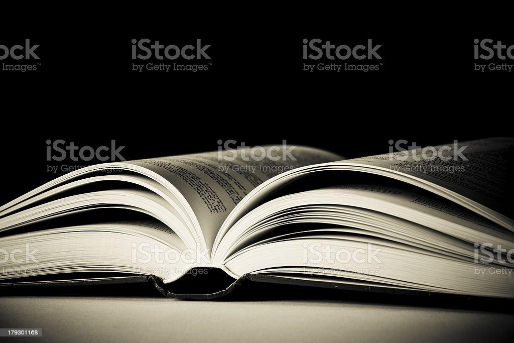 Abrió el libro - foto de stock