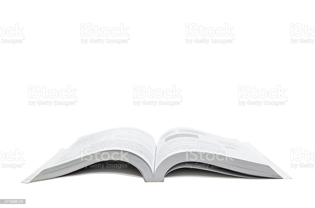 opened book (isolated) royalty-free stock photo