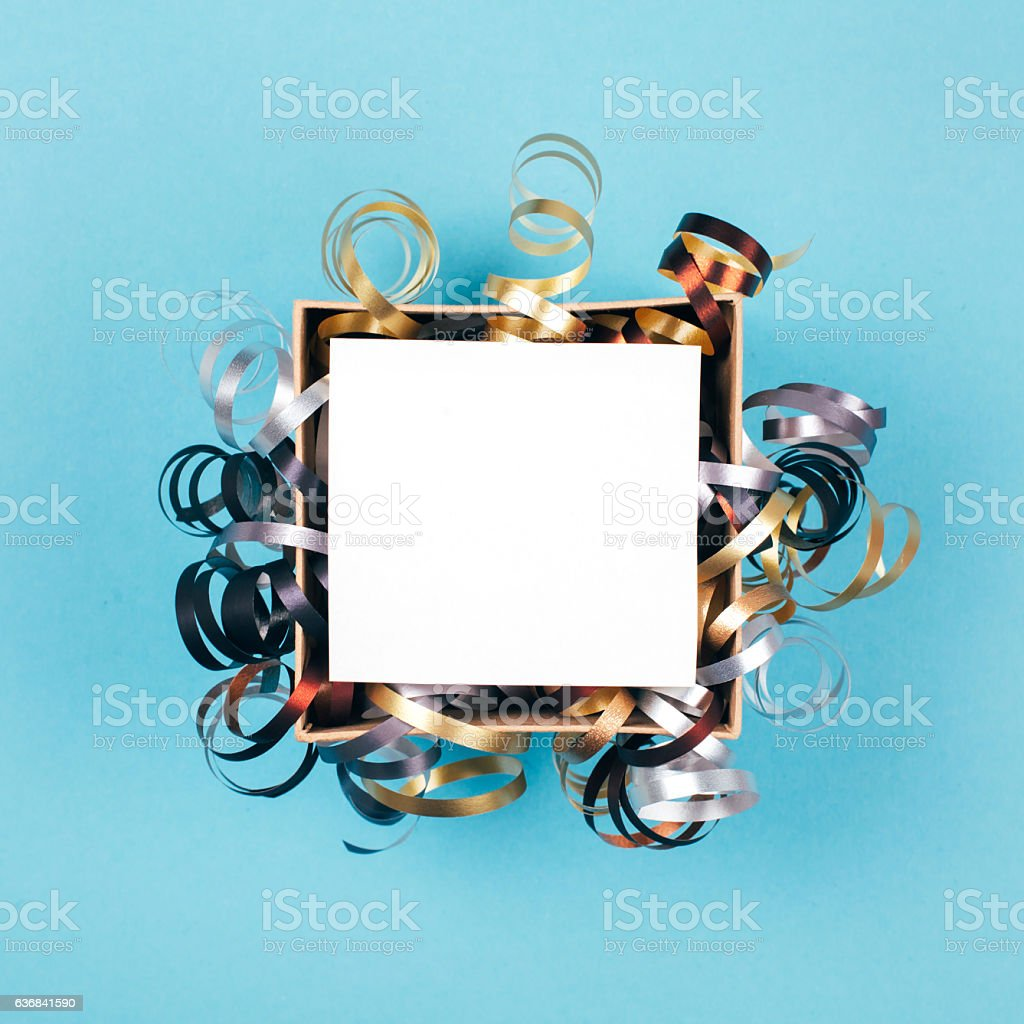 Opened box with clean card stock photo