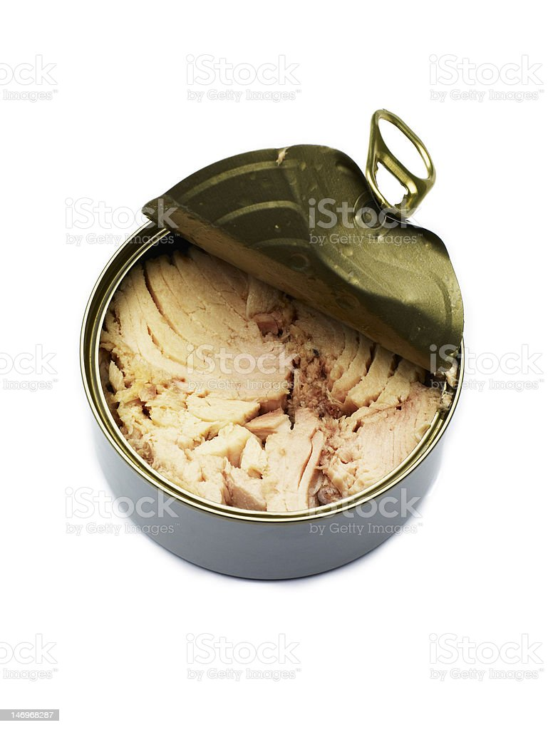 Opened Can of Tuna royalty-free stock photo