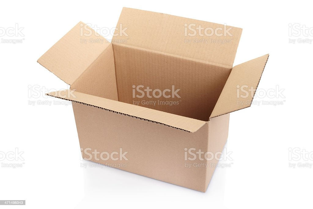 Opened cardboard box royalty-free stock photo