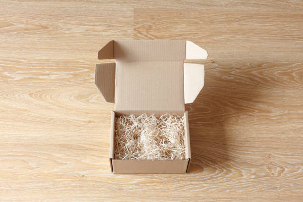 geöffneten karton geschenk-box - box falten stock-fotos und bilder