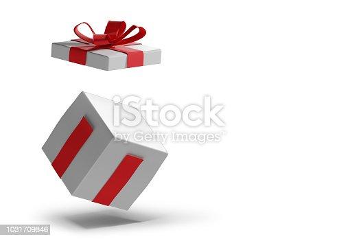 istock opened Christmas present 3d-illustration surprise box 1031709846