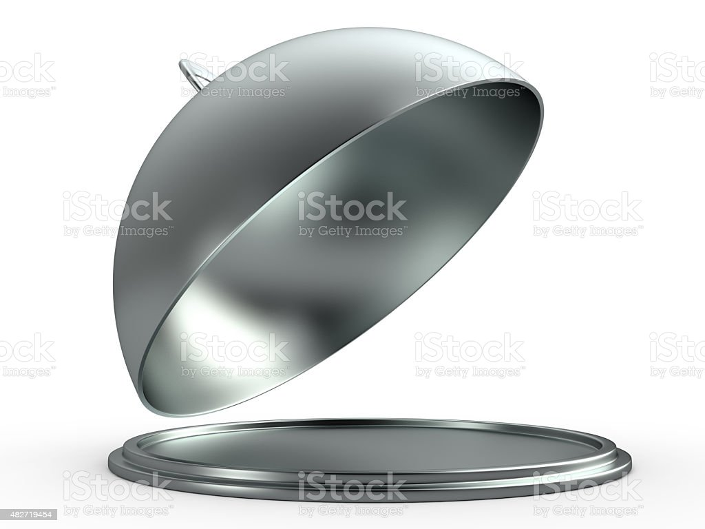 Opened cloche, 3D stock photo