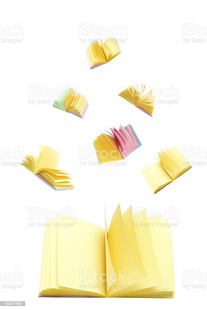 Opened colorful sticker note stock photo