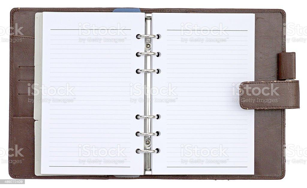 Ouvert couverture ordinateur portable isolé sur fond blanc - Photo