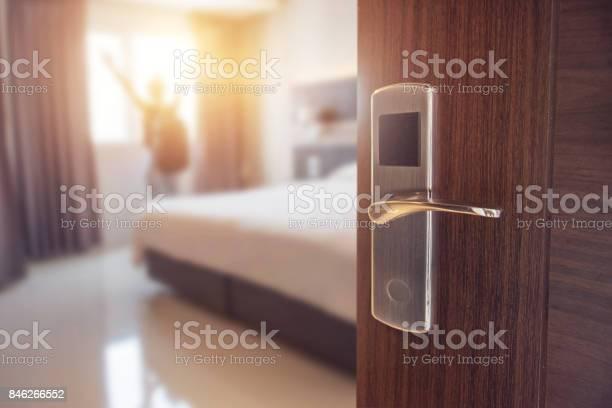 Opened door of hotel room in morning picture id846266552?b=1&k=6&m=846266552&s=612x612&h=0hse5ftstzf kryr5z9d8n17ue0gxi42mrdw7q pamy=
