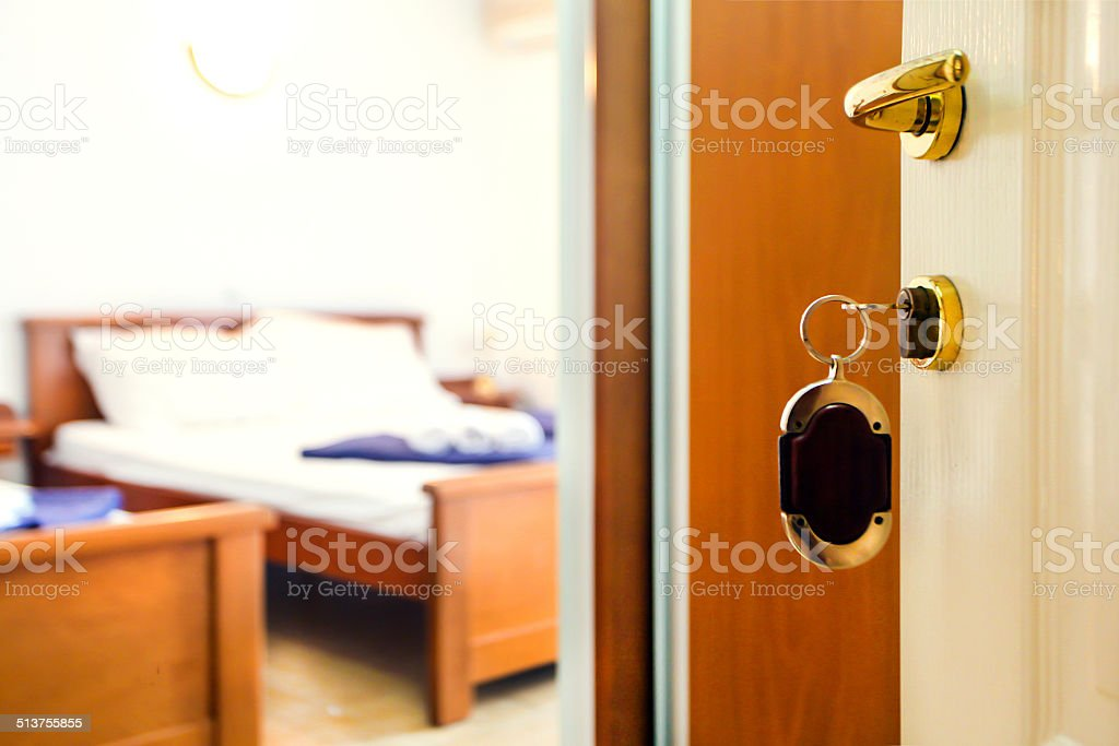 Opened door stock photo