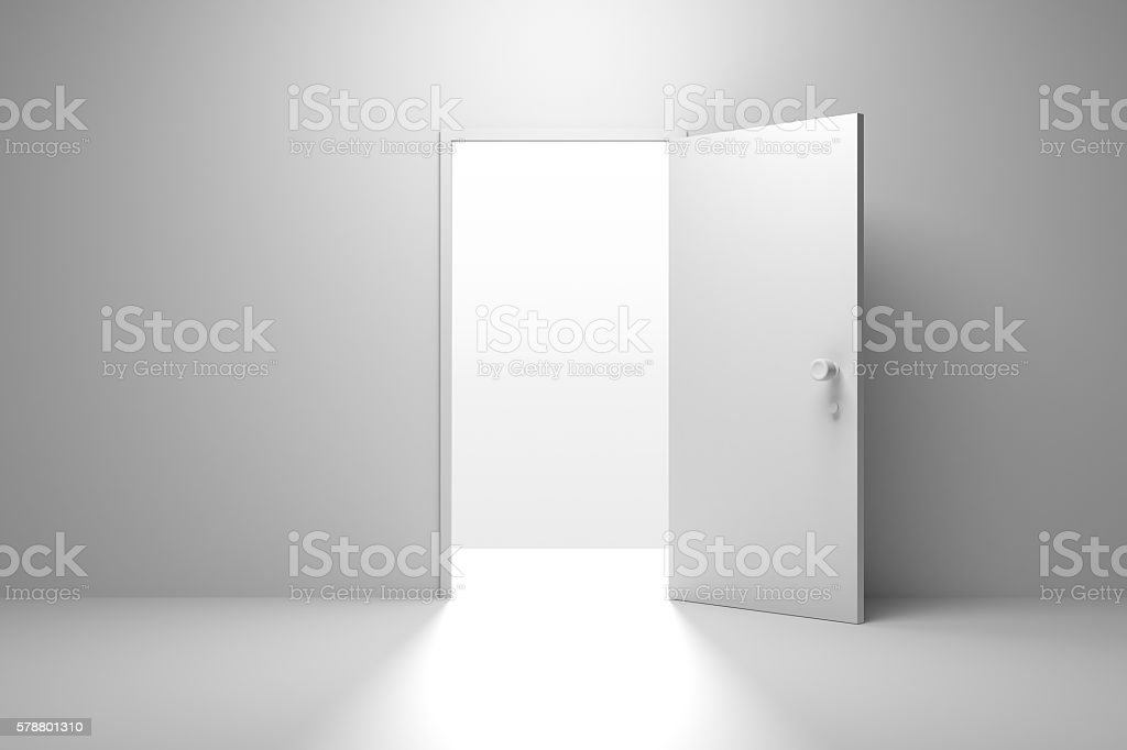 Opened Door, Successful Exit stock photo