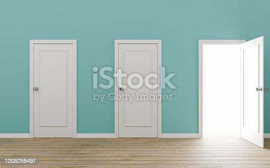 Door, Open, Three Objects, Closed
