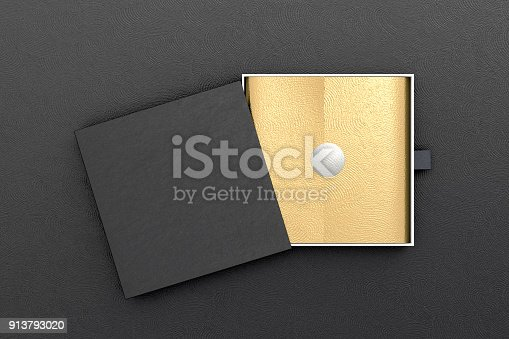 istock Opened drawer sliding box 913793020