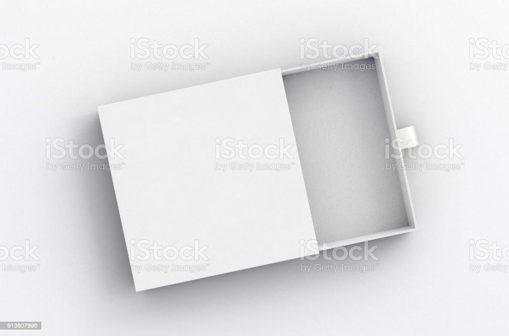 Opened drawer sliding box