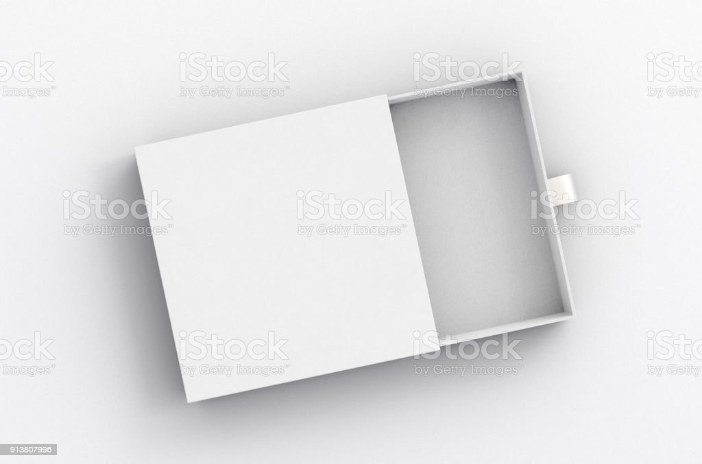 Abrió el cajón de desplazamiento de la caja - foto de stock