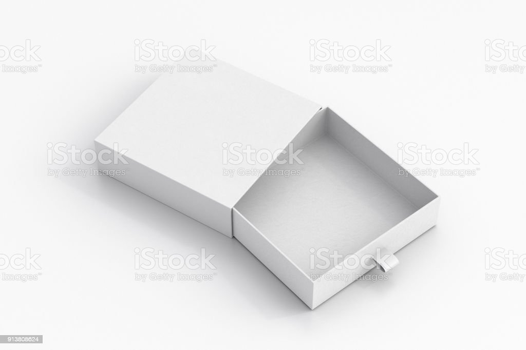 Opened drawer sliding box stock photo