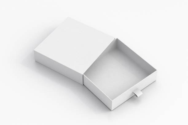 Opened drawer sliding box stock photo