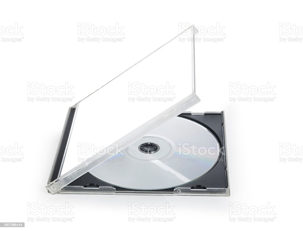 opened dvd cd disc cover case mockup. photo libre de droits