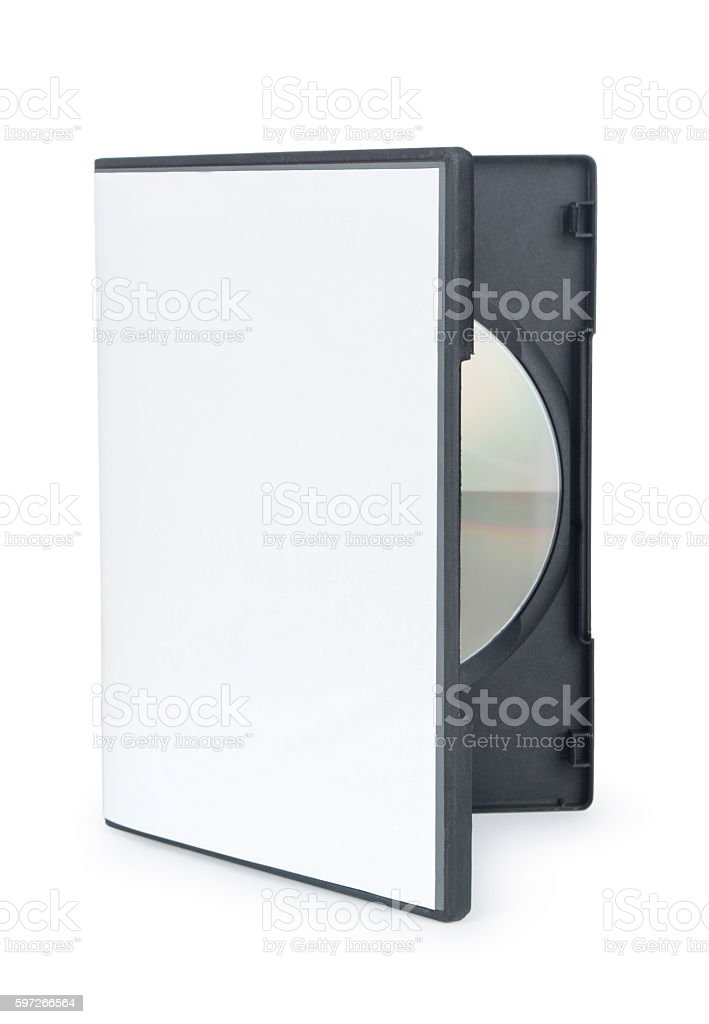 opened dvd cd disc cover case mockup. stock photo