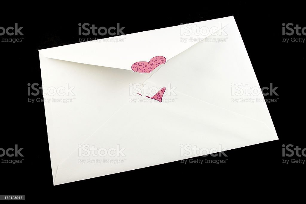 Opened Envelope royalty-free stock photo
