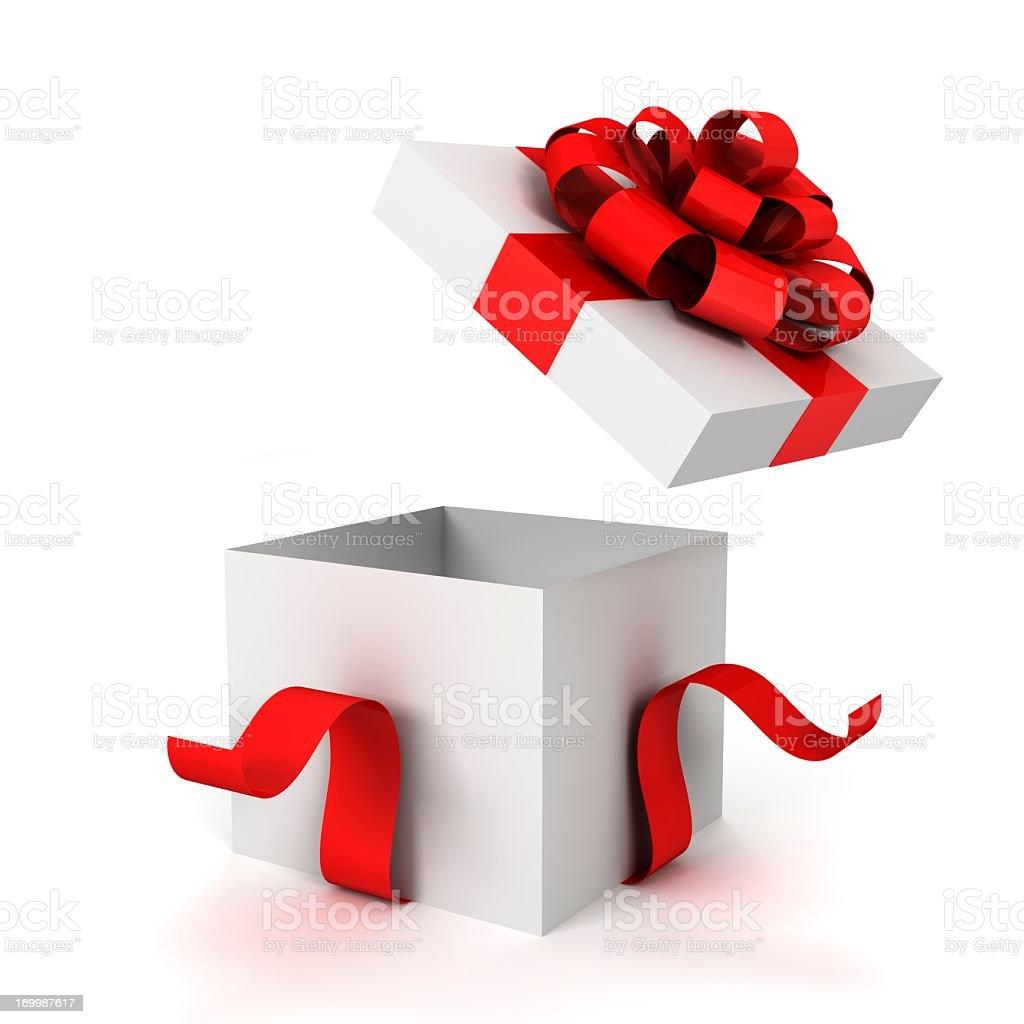 opened gift box royalty-free stock photo
