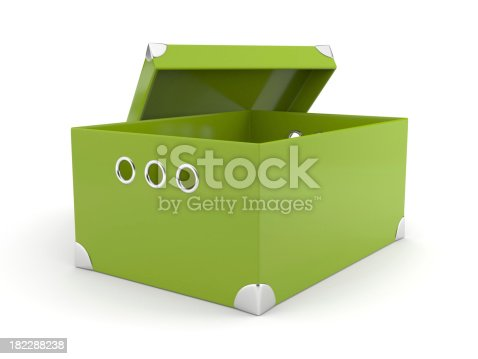 istock Opened green box 182288238