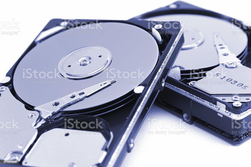 opened hard drives royalty-free stock photo